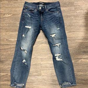 EXPRESS Skinny Ankle Stretch Jeans
